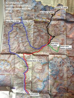 Map of Sagarmatha NP